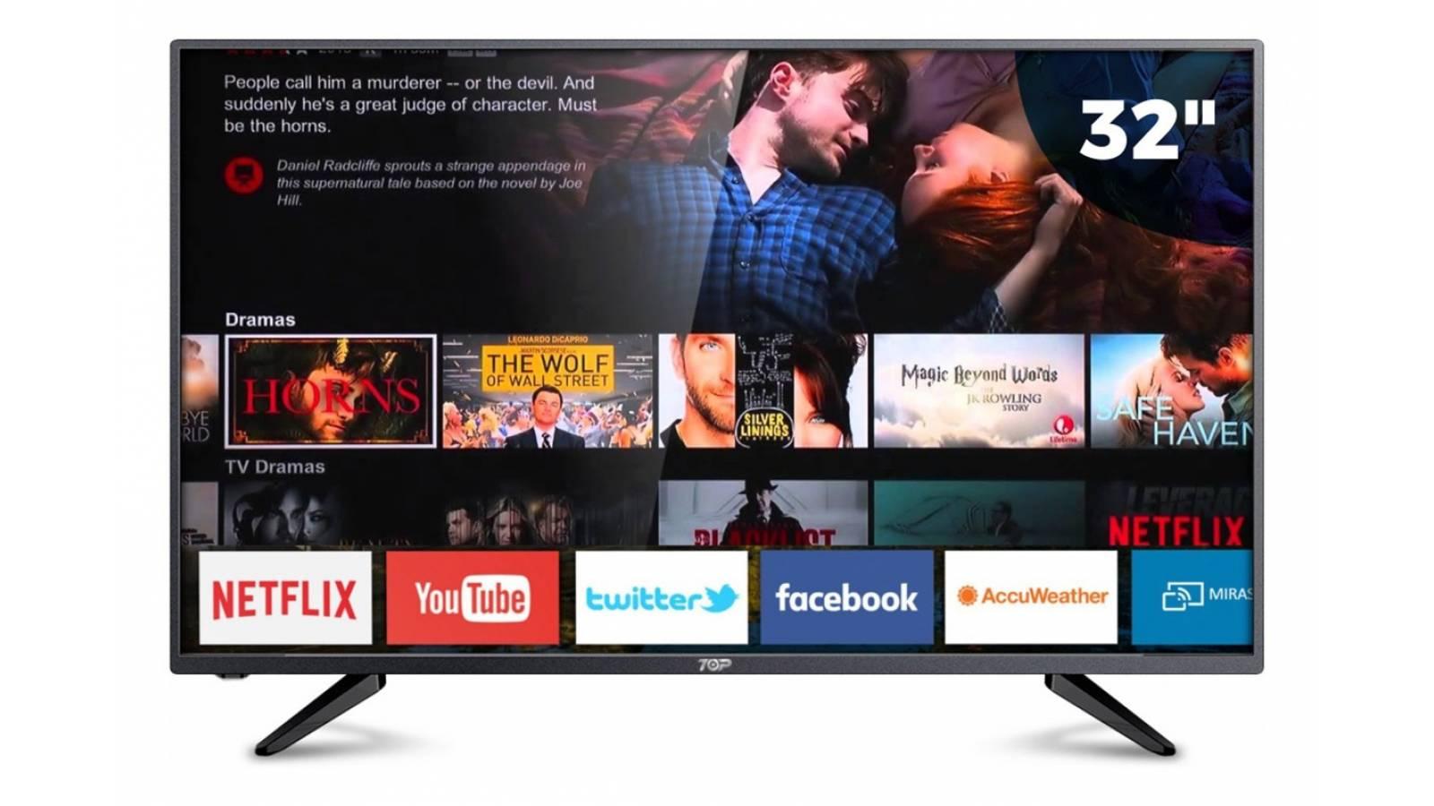 Smart Tv Led 32 Hd Top Digital 32D1S