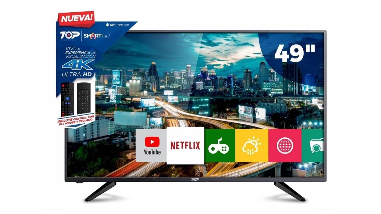 Smart Tv Led 49 Ultra Hd 4k Top Digital 49C1U