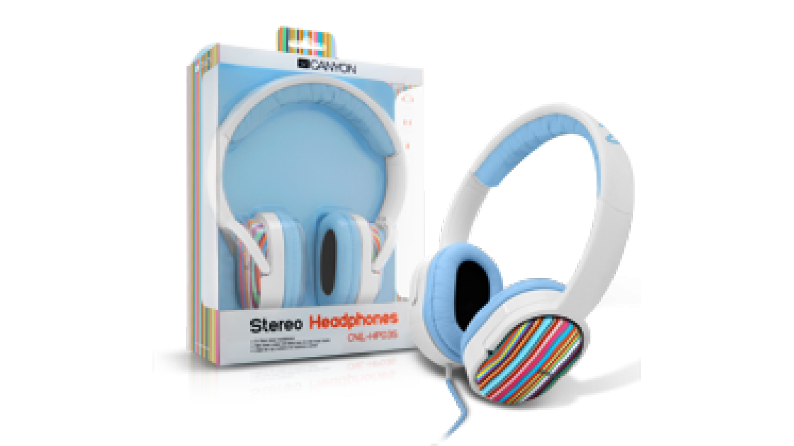 Auriculares Canyon CNL-HP03S STRIPES