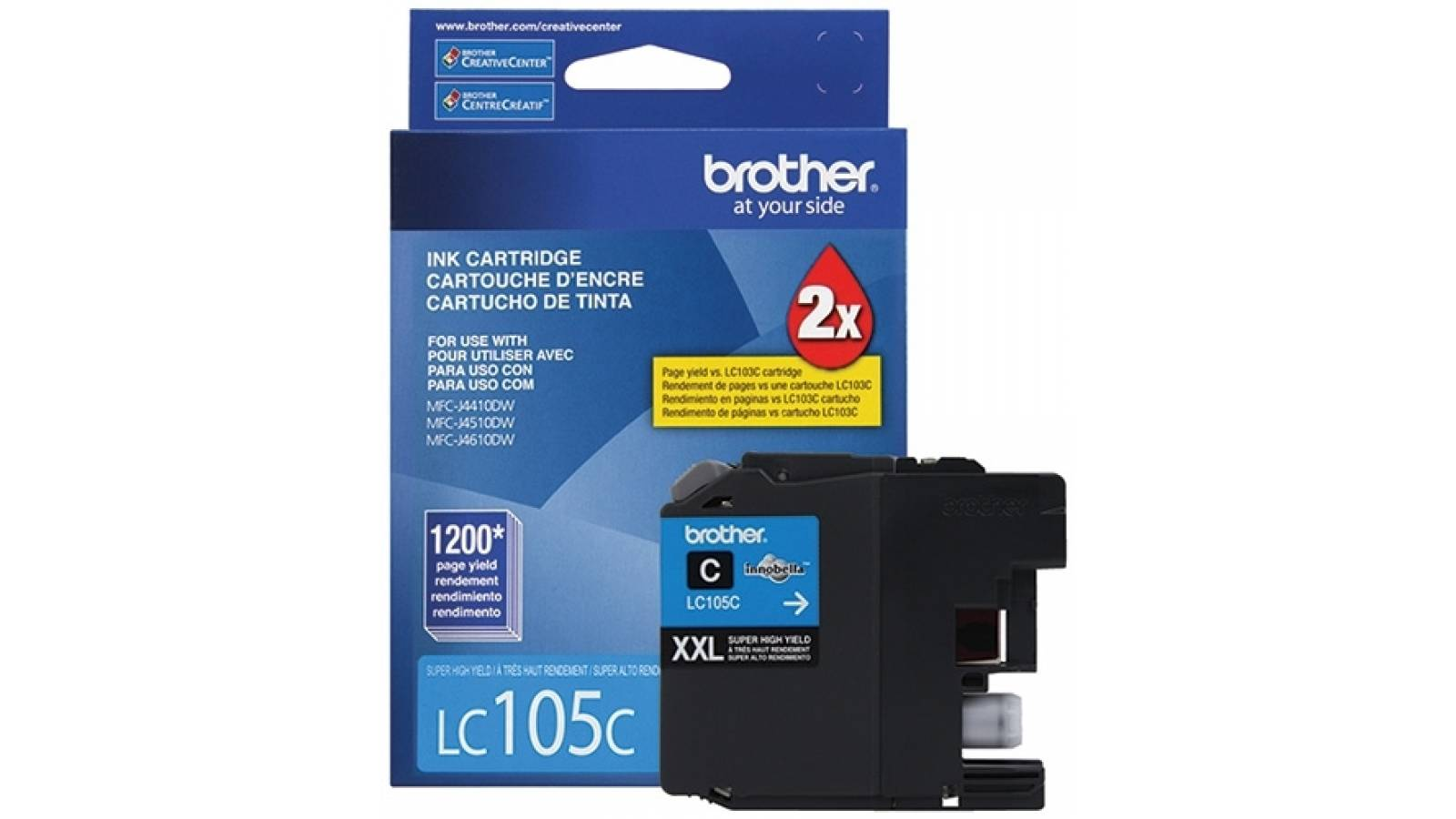 Cartucho de tinta Brother LC-105C