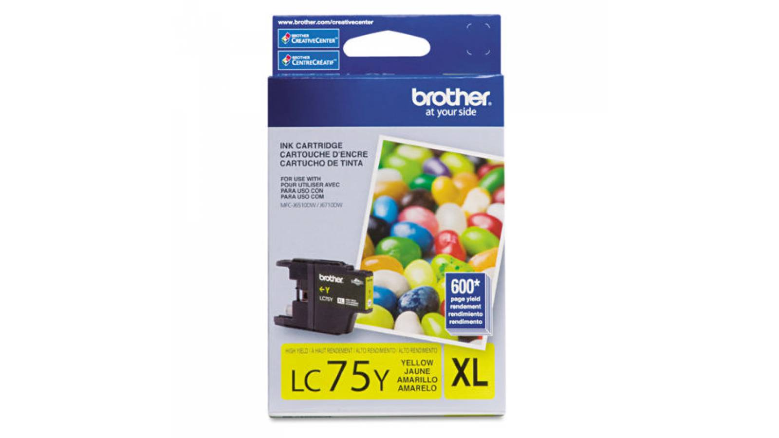 Cartucho de tinta Brother LC-75Y
