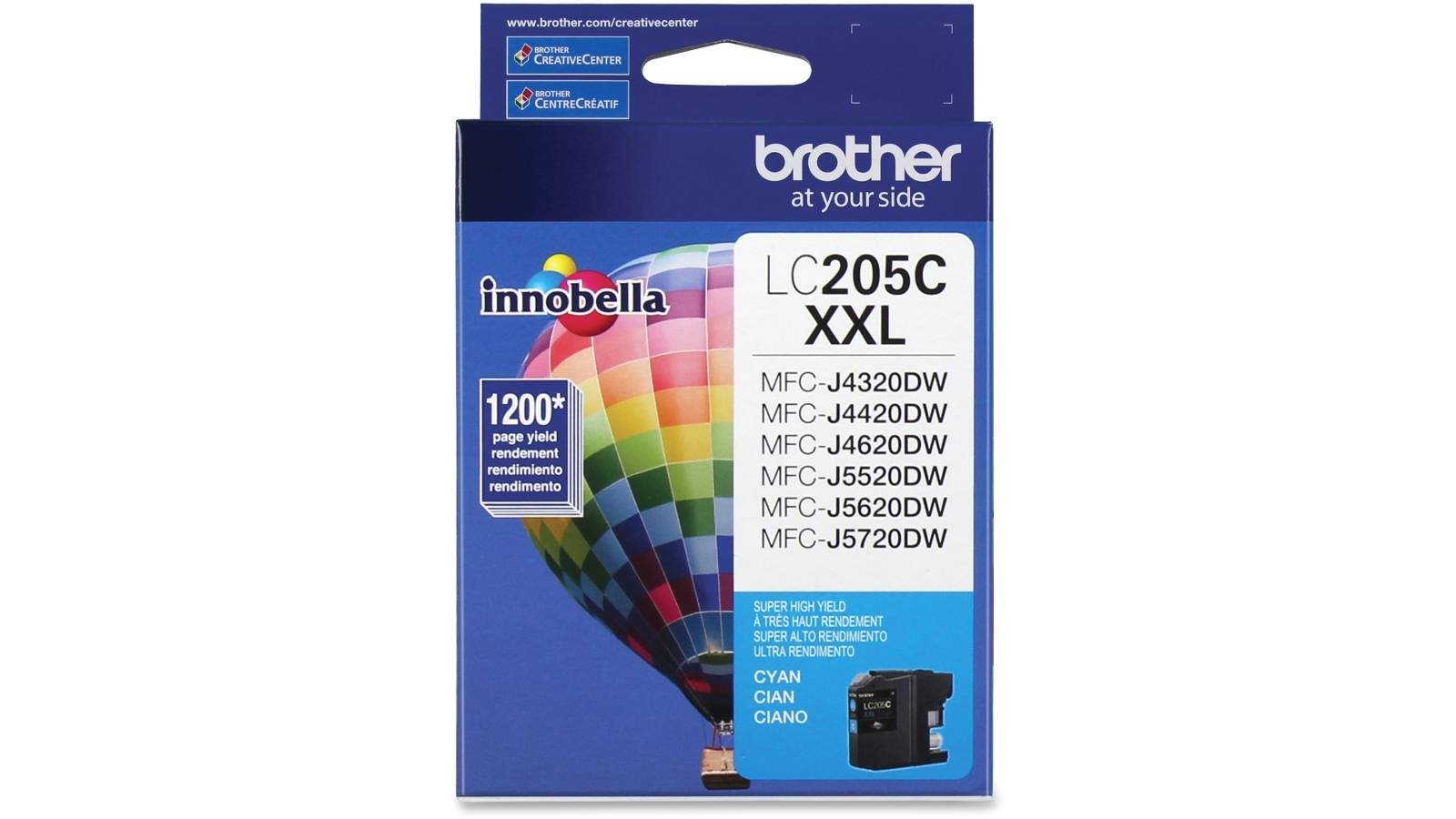 Cartucho de tinta Brother LC-205C