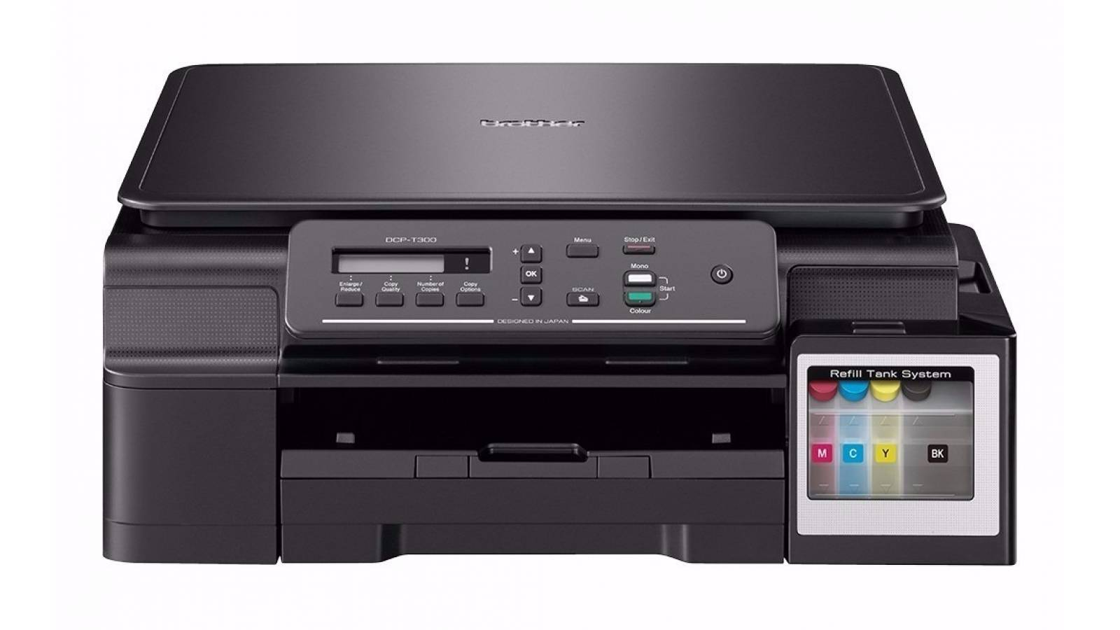 Impresora inkjet color multifuncional Brother DCP-T300 con sistema continuo