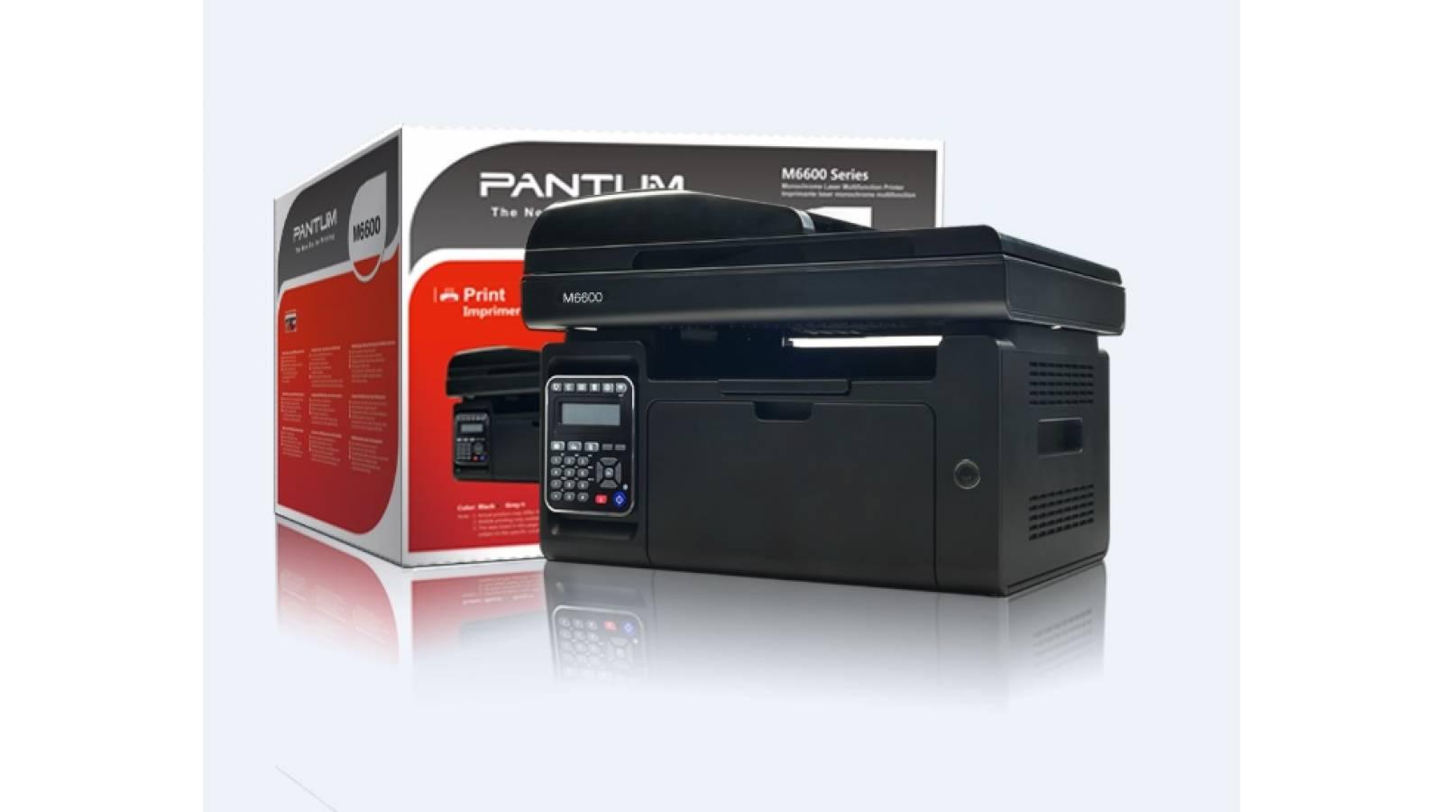 Multifuncional láser monocromática Pantum M6600NW con fax/ teléfono.