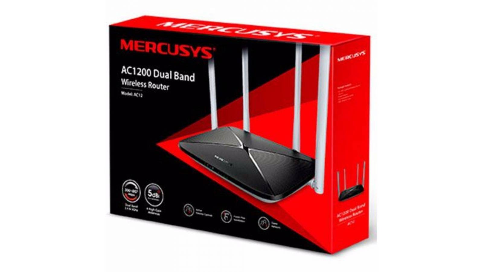Router Wireless MERCUSYS AC12 Dual Band AC1200 (300867 Mbps)