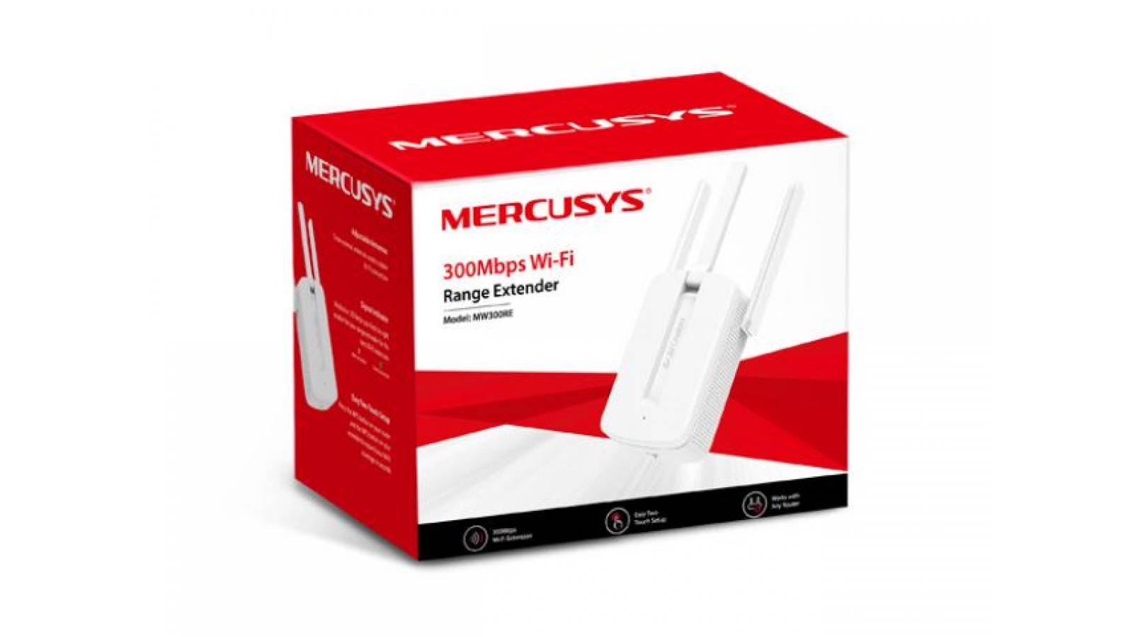 Extensor de alcance inalámbrico MERCUSYS MW300RE 300mbps