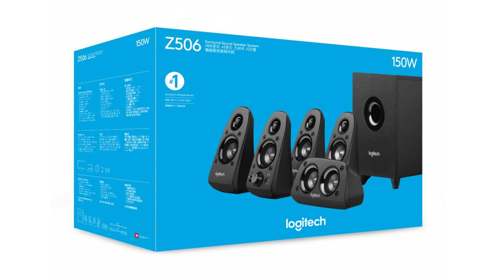 Parlantes Logitech Z506 5.1Ch Negro