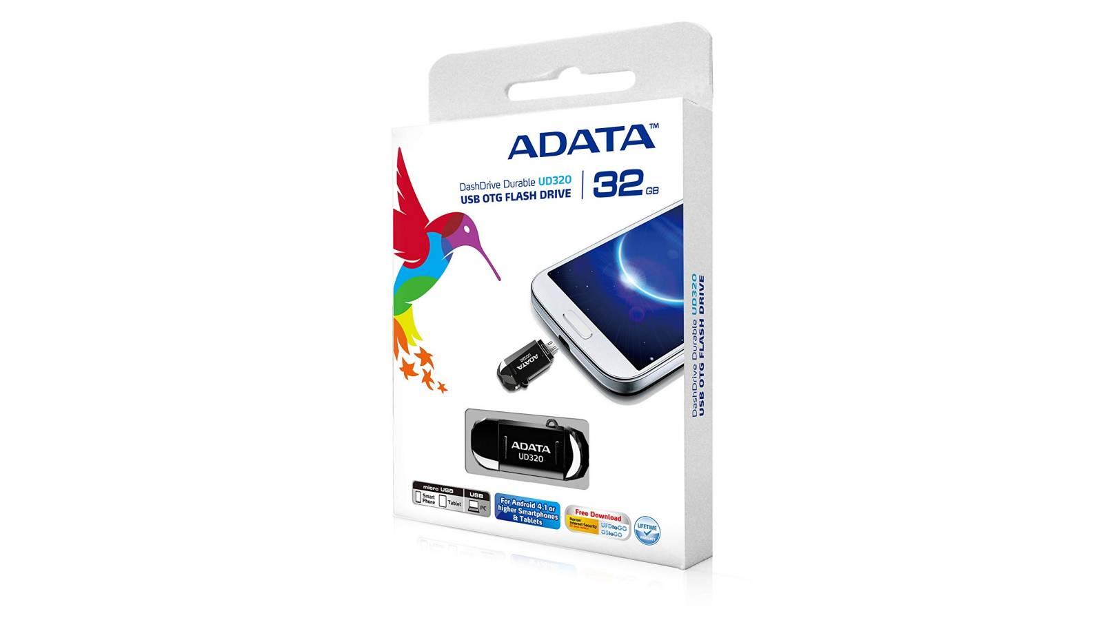 Pendrive Adata para PC/ Celulares UD320 32GB Negro