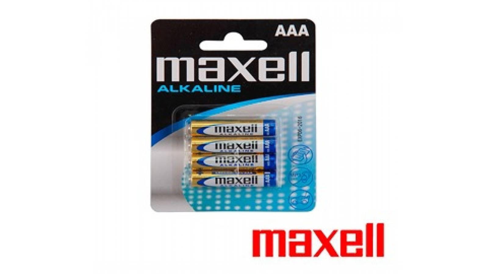 Blister de Pilas Alcalinas Maxell AAA 4 un