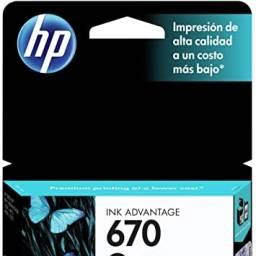 Cartucho de tinta HP Original CZ113AL (670) Negro