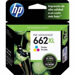 Cartucho de tinta HP Original CZ106AL (662XL) Tricolor