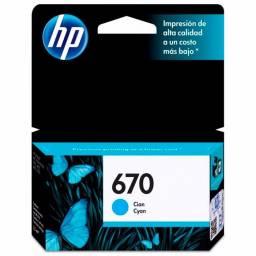 Cartucho de tinta HP Original CZ114AL Cyan (670)