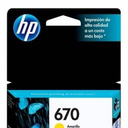 Cartucho de tinta HP Original CZ116AL (670) Yellow