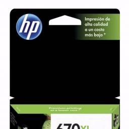 Cartucho de tinta HP Original CZ117AL (670) XL Negro
