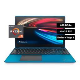"""Notebook Gateway AMD Ryzen 5 3.5Ghz, 8GB DDR4, 256GB SSD, AMD Radeon Vega 8 15,6"""""""