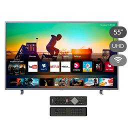 "Smart TV LED 4K AMBILIGHT PHILIPS 55"" -  55PUD6703/55"