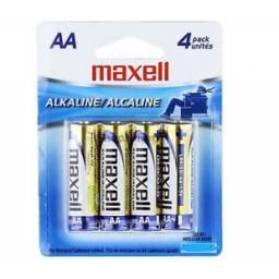 Blister de Pilas Alcalinas Maxell AA 4 un