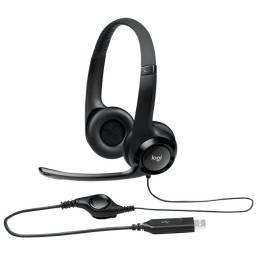 Auriculares Manos libres Logitech H390 Usb + Microfono Suspension De Ruido Para Pc