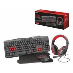 Combo Gamer 4en1 Trust Ziva Teclado+Mouse+Headset+Mousepad