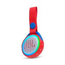 Parlante JBL JR POP Bluetooth con luces sumergible Red  Rojo
