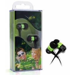 Auriculares Canyon CNR-EP08NG BLACK/GREEN