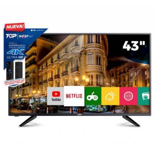 """Smart Tv Led 43"""" Ultra Hd 4k Top Digital 43C1U"""