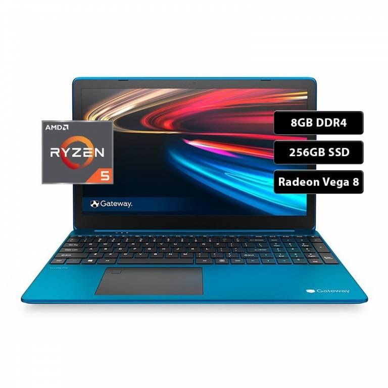 Notebook Gateway AMD Ryzen 5 3.5Ghz, 8GB DDR4, 256GB SSD, AMD Radeon Vega 8 15,6