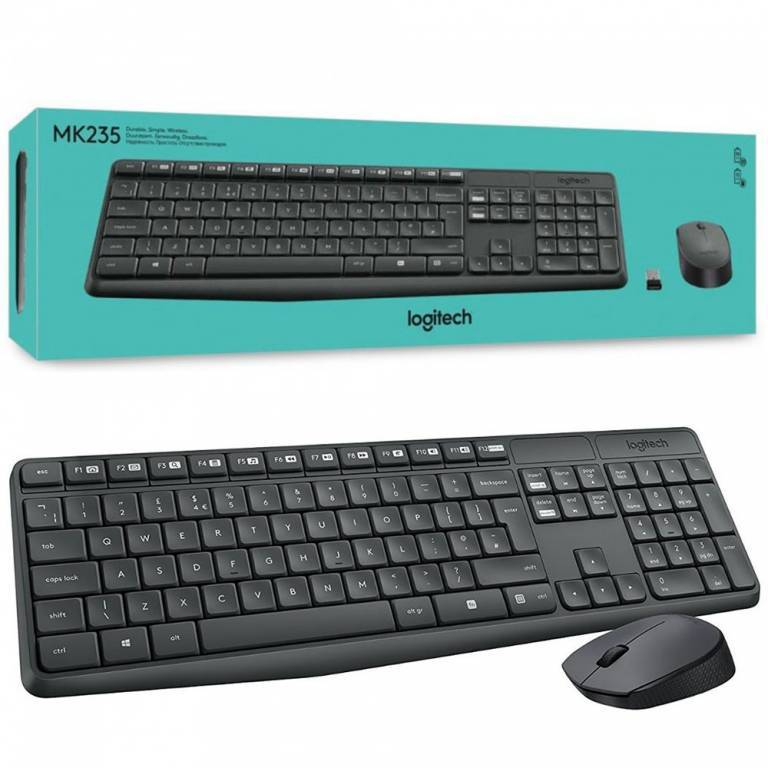 Combo Mouse y Teclado Logitech Inalambrico MK235